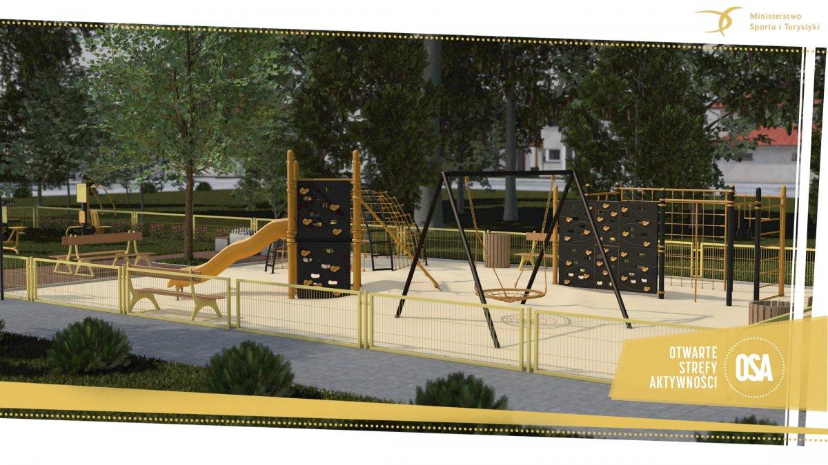 Budowa nowego placu zabaw oraz siłowni plenerowej