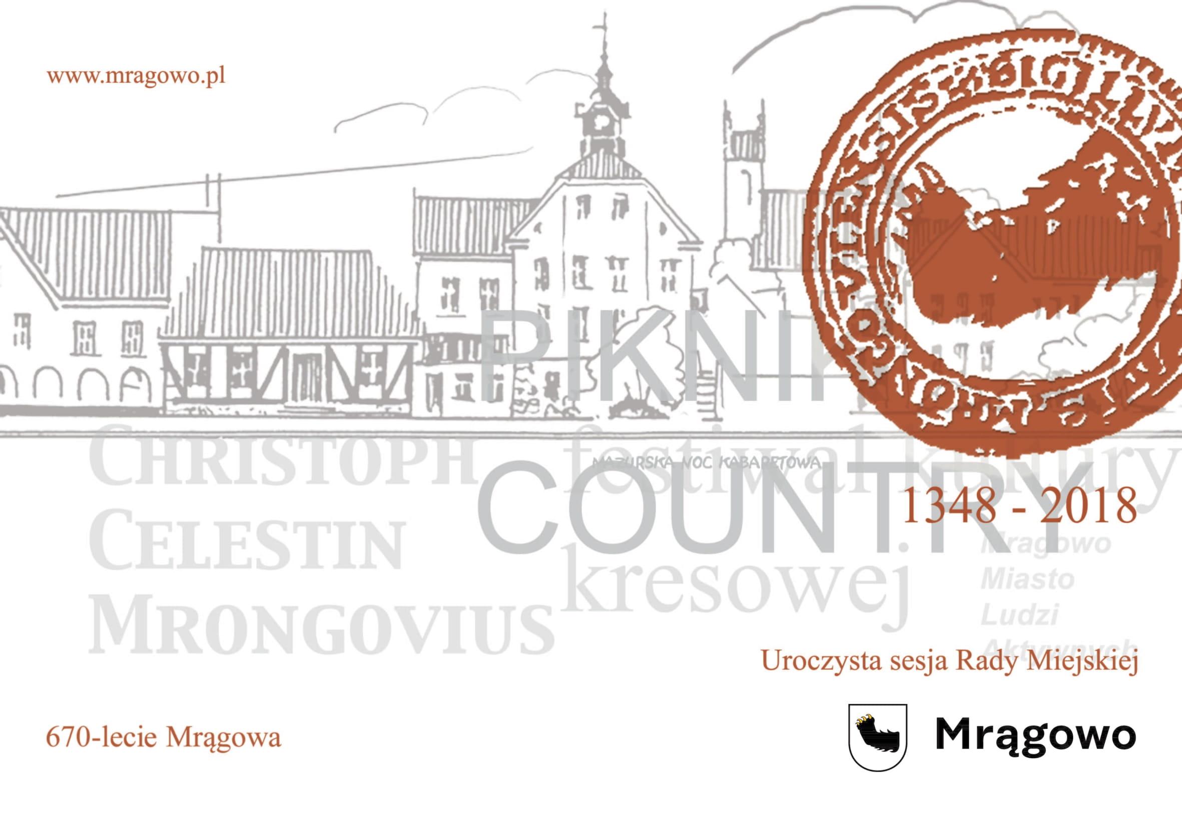 Uroczysta Sesja Rady Miejskiej dot. Obchodów 670-lecia Mrągowa