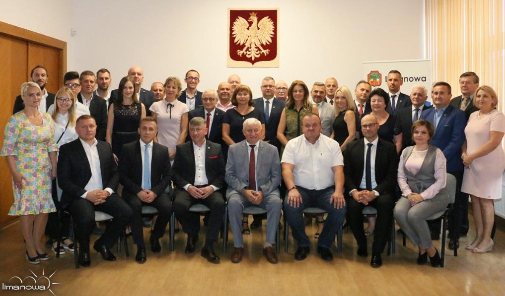 Delegacja z Mrągowa na Dniach Limanowej