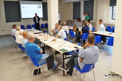 Mrągowscy przedsiębiorcy spotkali się z burmistrzem i przedstawicielem Fundacji ATUT
