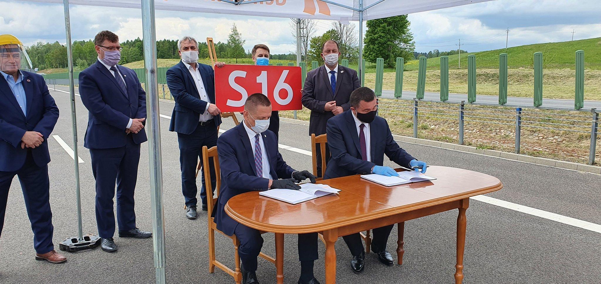 Podpisano umowę na budowę trasy S16 na odcinku Borki-Mrągowo