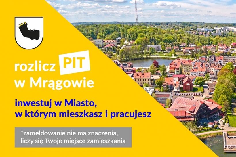 30 kwietnia mija termin na rozliczenie PIT. Swój podatek zostaw w Mrągowie!