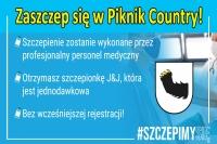 Szczepienia przeciw COVID-19 w Piknik Country bez rejestracji!