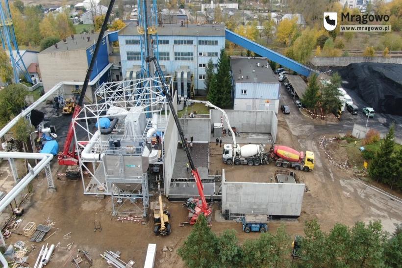 W mrągowskim MEC powstaje kocioł na biomasę